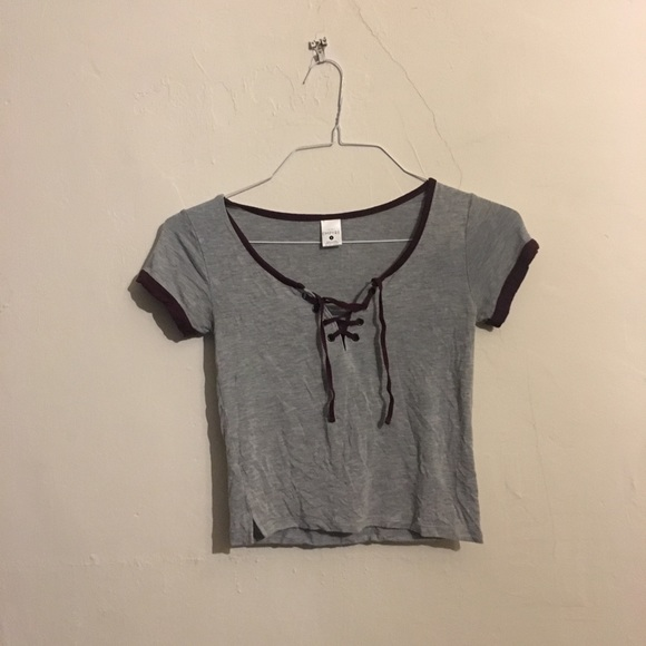 Empyre Tops - Empyre Lace Up Crop Top